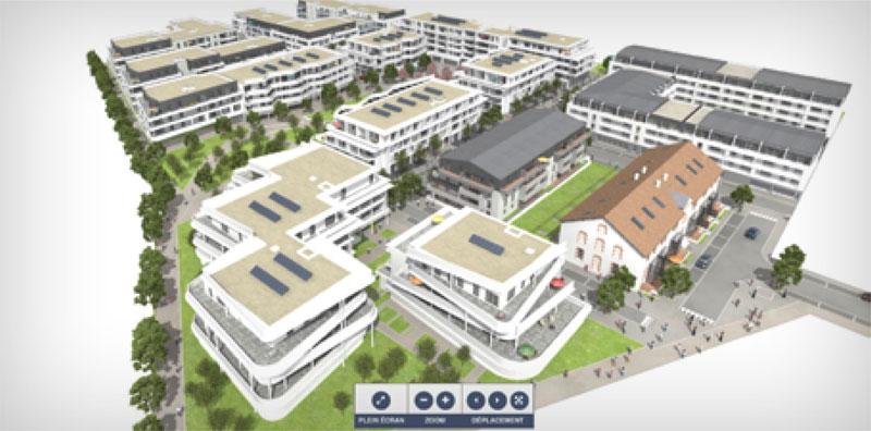 Maquette 3D du quartier